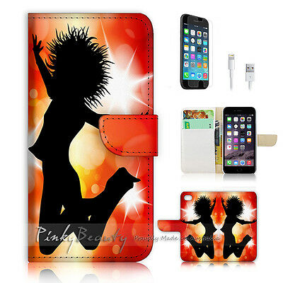 AU12.99 • Buy ( For IPhone 6 / 6S ) Wallet Case Cover P0686 Dancing Girl