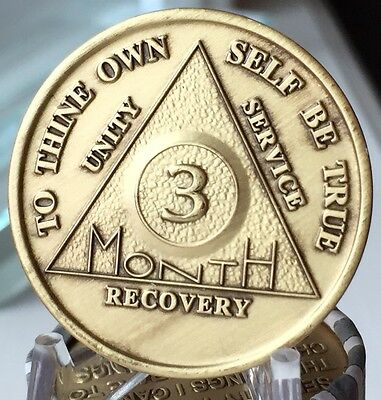 $1.59 • Buy Alcoholics Anonymous 90 Day Recovery Coin Chip Medallion Medal Token AA Days