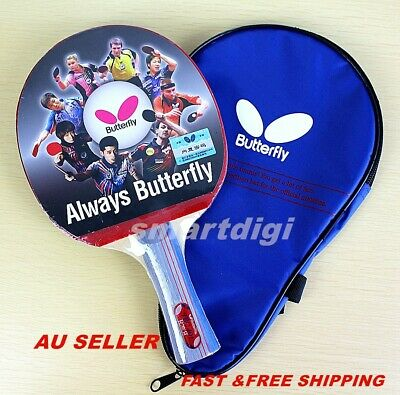 AU49.75 • Buy Butterfly Long Handle/Shakehand Table Tennis Ping Pong Racket Paddle Bat TBC401