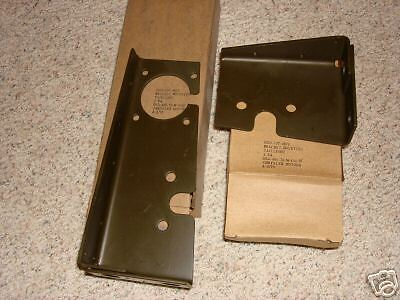 $46.50 • Buy Military M37 Left And Right Tail Light Brackets Nos