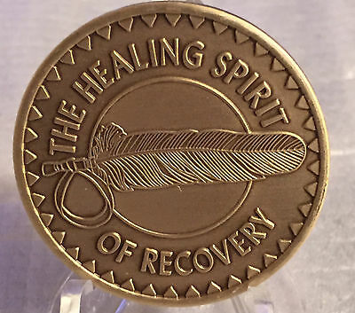$1.70 • Buy Healing Spirit Of Recovery Medallion Chip Coin AA NA Great Spirit Prayer Bronze