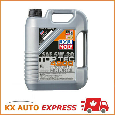 $ CDN122.99 • Buy Liqui Moly Top Tec 4200 Longlife III SAE 5W-30 Fully Synthetic Motor Oil 5L 2011