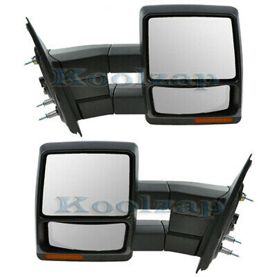 $212.95 • Buy F150 Power Heat Signal/Puddle Lamp Folding Tow Mirror Left & Right Side SET PAIR