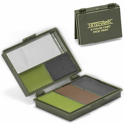 Nitehawk Camouflage GI/Army/Military 5 Colour Face Paint Set With Mirror • 3.99£