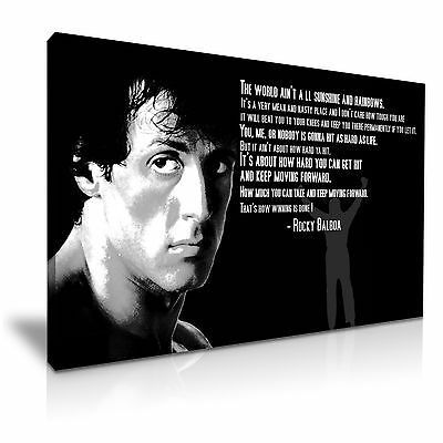 Rocky Balboa Movie Quote Boxing Canvas Wall Art Deco 9 Sizes  • 9.89£