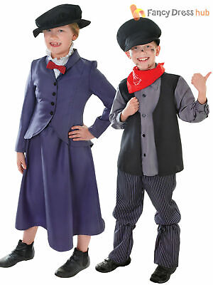 £12.75 • Buy Kids Victorian Mary Nanny Chimney Sweep Fancy Dress Costume Book Day