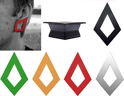 $2.99 • Buy GeoGauges Brand Diamond-Shaped Silicone Tunnels Ear Plugs Gauges Body Jewelry