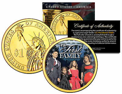 $9.95 • Buy President BARACK OBAMA * First Family * Presidential $1 Dollar Coin Gold Plated