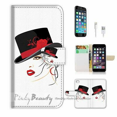 AU12.99 • Buy ( For IPhone 6 / 6S ) Wallet Case Cover P0859 Hat Girl