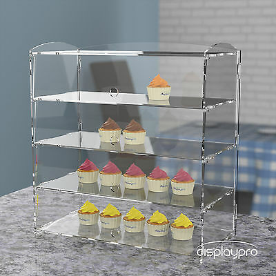£96.86 • Buy Acrylic Bakery Pastry Display Case Stand Cabinet Cakes Donuts Cupcakes Pastries