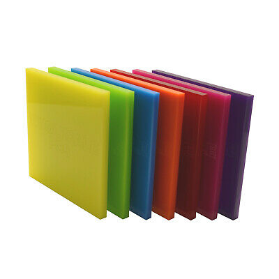Acrylic Perspex® Colour, Clear, Mirror, Tinted & Frosted Sheet Cut To Size Panel • 8.19£