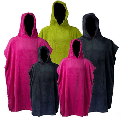 Changing Robe Adults & Kids Poncho COTTON TOWELLING Swimming Surfing Beach Pool • 20£