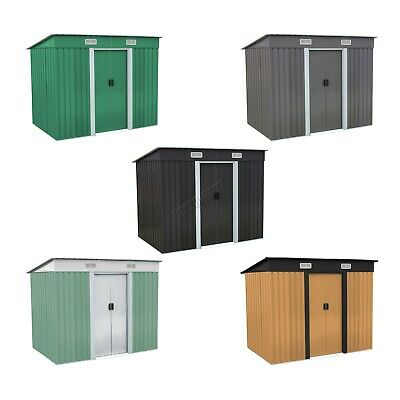 WestWood New Garden Shed Metal Pent Roof Outdoor Storage With Free Foundation • 156.90£