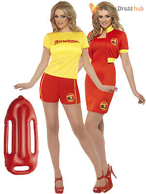 AU39.95 • Buy Ladies Baywatch Fancy Dress Beach Lifeguard Sexy Swimsuit Hen Party 90s Costume