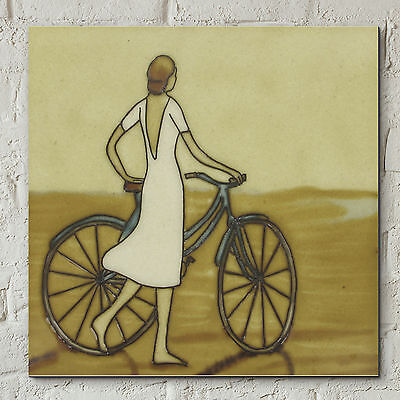 £15.80 • Buy Vintage Seaside Stroll Ceramic Picture Tile Decorative Wall Plaque 8x8  05472