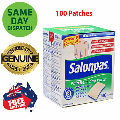 AU31.50 • Buy Salonpas Patch Hisamitsu Pain Relieving Made In Japan 100 Patches Larger 7.2x4.6