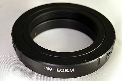 $10.99 • Buy Leica LTM M39 Screw Mount Lens Adapter For Canon EOS EF-M Mirrorless Cameras M10