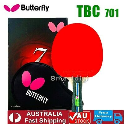 AU104.75 • Buy Butterfly TBC701 Shakehand Long Table Tennis Ping Pong Racket Paddle Bat Blade F