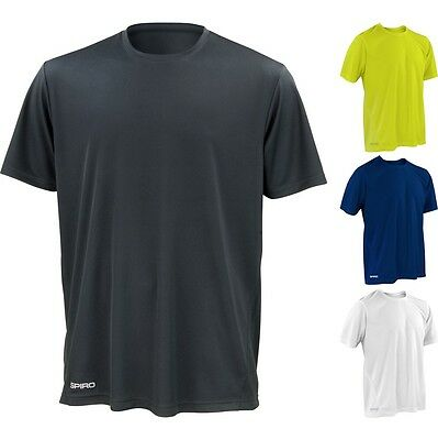 Mens Spiro Quick Dry Lightweight Base Layer Short Sleeve T Shirt Top • 7.99£