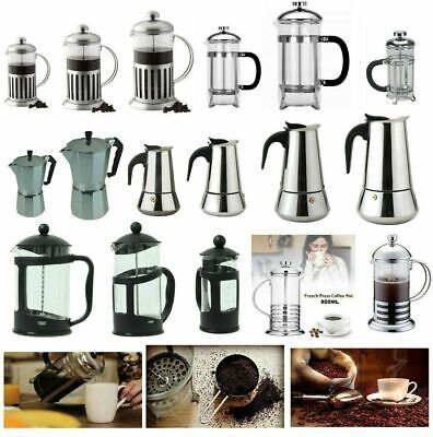 Stainless Steel Glass Cafetiere Ground Coffee Filter Maker Coffee Press Plunger  • 7.50£