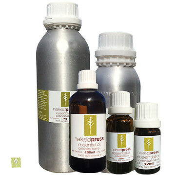 AU35.20 • Buy 100% Pure Aromatherapy Essential Oils - NakedPress - 12ml, 25ml 100ml, 500g, 1kg