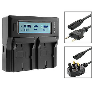 LP-E8 Dual LCD Battery Charger High Low Modes For Canon EOS 550D 600D 650D 700D • 26.99£