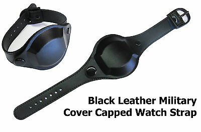 $28.82 • Buy Black Capped Covered Quality Military 18mm Watch Strap By Condor