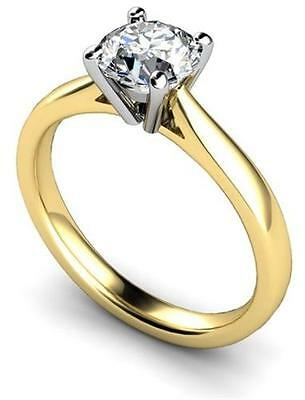 Engagement Ring Diamond Solitaire 18ct Gold Fully UK Hallmarked • 417.45£
