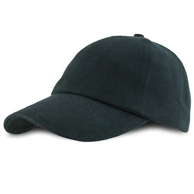 £7.50 • Buy Plain Black Baseball Cap For Police Or Security, Cotton, Classic Style, One Size