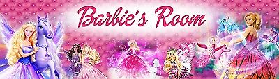 Personalized Pink Barbie Name Banner Poster (8.5x30 ) High Glossy Photo Paper  • 11.04£