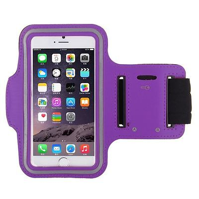 Sports Armband Case Running Jogging Gym Holder For IPhone 6 4.7  - Purple • 2.79£