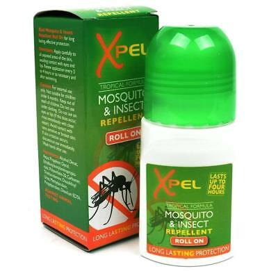 2 X Xpel Insect Repellent Roll On 75ml Each Bites Mosquitoes Wasps Midges Travel • 6.35£