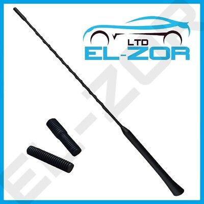 Black Rubber Bee Sting Upgrade Aerial Antenna Arial Whip AMFM 41.5cm Car Van 12v • 6.52£