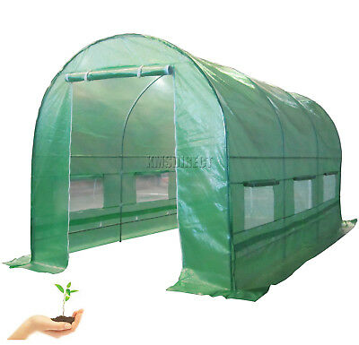 New Galvanised Steel Frame Polytunnel Greenhouse Pollytunnel Poly Tunnel 4m X 2m • 120.99£