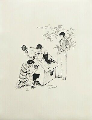 $ CDN2500.77 • Buy Norman Rockwell  Fido's House  1976 | Signed Print | American Family | Gallart