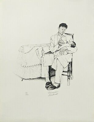 $ CDN2613.46 • Buy Norman Rockwell  Two O'clock Feeding  1973 | Signed Print | From American Family