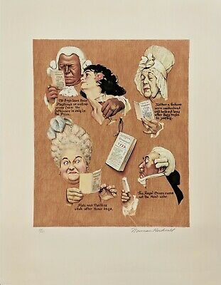 $ CDN2613.46 • Buy Norman Rockwell  The Royal Crown  1973 | Signed Print | Poor Richard's Almanac