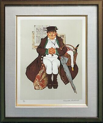 $ CDN2753.47 • Buy Norman Rockwell  Muggleton's Stagecoach  1976 | Signed Print | Framed | Gallart