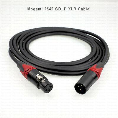 AU35 • Buy MOGAMI 2549 GOLD High Quality XLR Cable In Custom Lengths And Boot Colours.