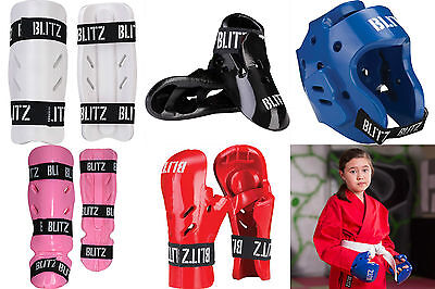 £18.99 • Buy Blitz Karate Dipped Foam Sparring Protection Pads Hands Feet Head And Shins