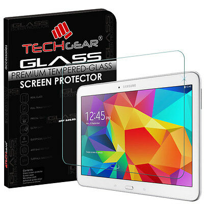 £5.95 • Buy TECHGEAR TEMPERED GLASS Screen Protector For Samsung Galaxy Tab 4 10.1 (SM-T535)