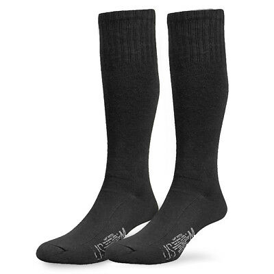 All Season Breathable Tactical Duty Police Security Cushioned Boot Socks Black • 7.80£