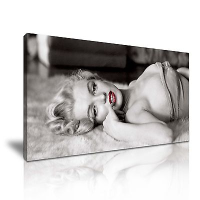 Marilyn Monroe Icon Canvas Wall Art Picture Print 60x30cm • 19.99£