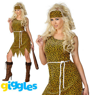 £6.95 • Buy Cavewoman Costume Womens Ladies Cave Girl Prehistoric Sexy Fancy Dress Outfit