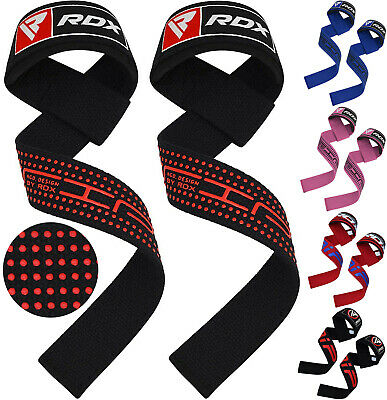 8RDX Weight Lifting Wrist Straps 5mm Padded Support Hand Bar Grips Gym Wraps • 9.99£