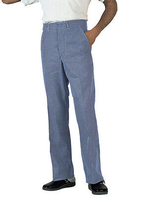 Faithful Gingham Blue Check Chef Stud Trouser Tall Inc Big Sizes Chefs 251t • 6.20£