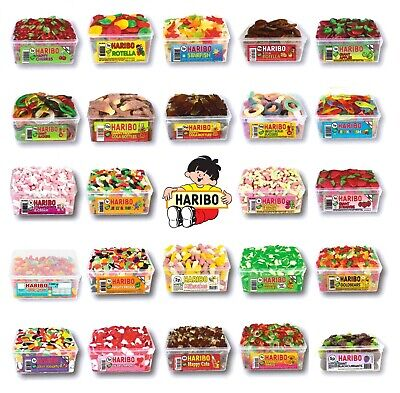 2 X Full Tubs Haribo Sweets Wholesale Discount Candy Box Party Favours Treats • 14.49£