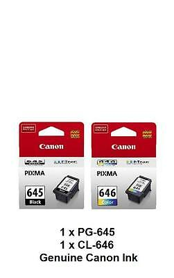 AU51.99 • Buy Genuine Canon PG645 PG-645+CL646 CL-646 Ink Cartridges For MG2460 MG2560 MG2960
