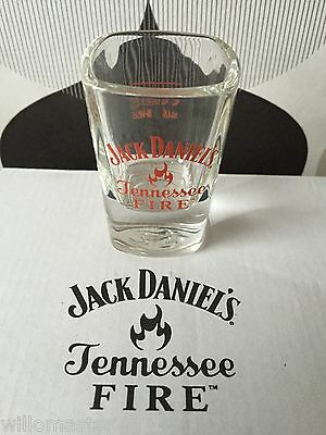 Rare Jack Daniels Tennessee Fire Shot Glass Uk Edition  Unboxed • 6.50£