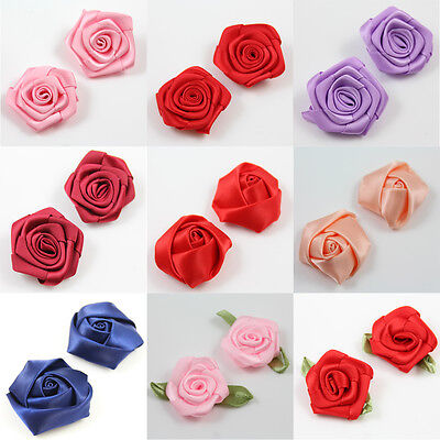 Gorgeous Satin Flower Embellishments *3 Sizes Art & Crafts Haberdashery Knitting • 1.69£